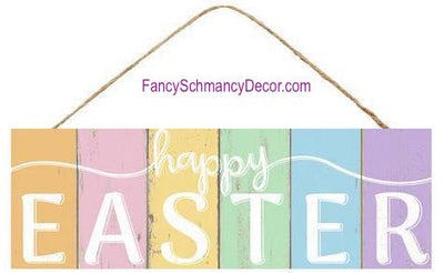 "15"" L X 5"" H Happy Easter Colored Sign"