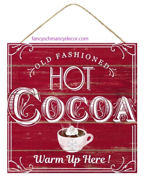 "12"" Square Hot Cocoa Sign"