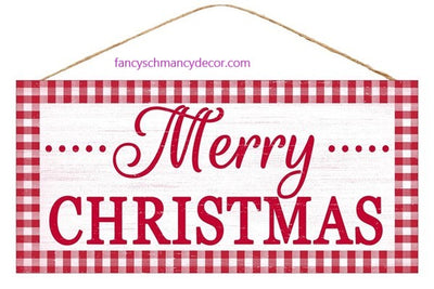 Red Gingham Merry Christmas Sign by Craig Bachman Imports