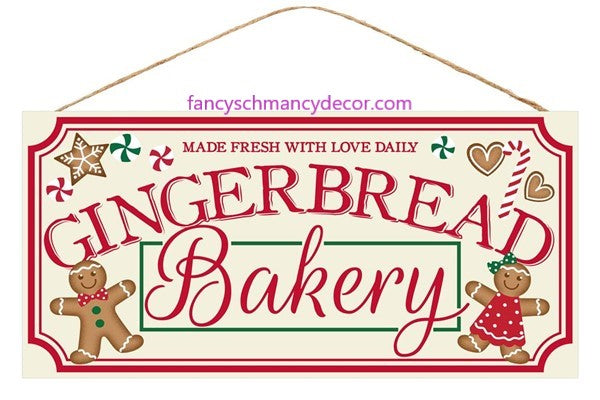 "12.5""L X 6""H ""Gingerbread Bakery"" Sign"