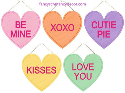 "12""L X 11.5""H Candy Hearts Sign Assortment"