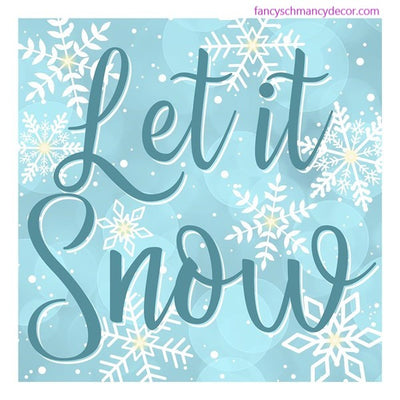 "10""Sq Let It Snow Sign W/Lights"