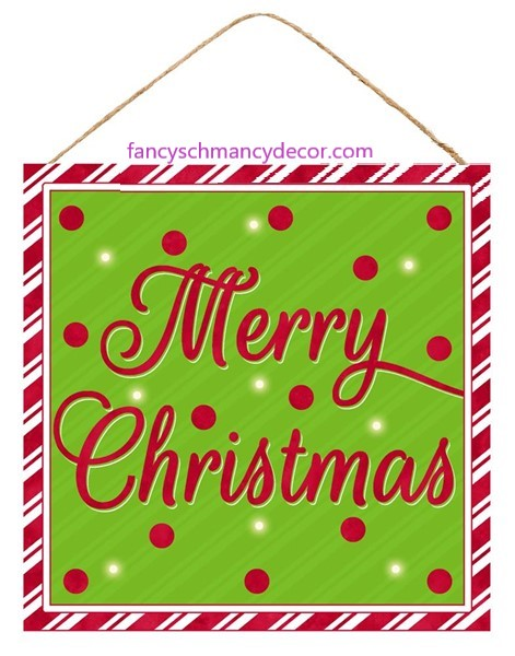 "10""Sq Merry Christmas Sign W/Lights"