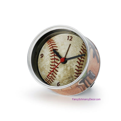 Man Gear Baseball Can Clock