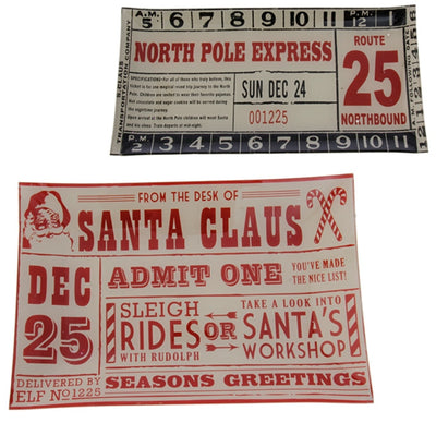 Raz Imports Santa Letter and Ticket trays