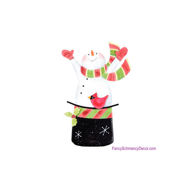 Ho Ho Snowman in Hat by The Round Top Collection C16001