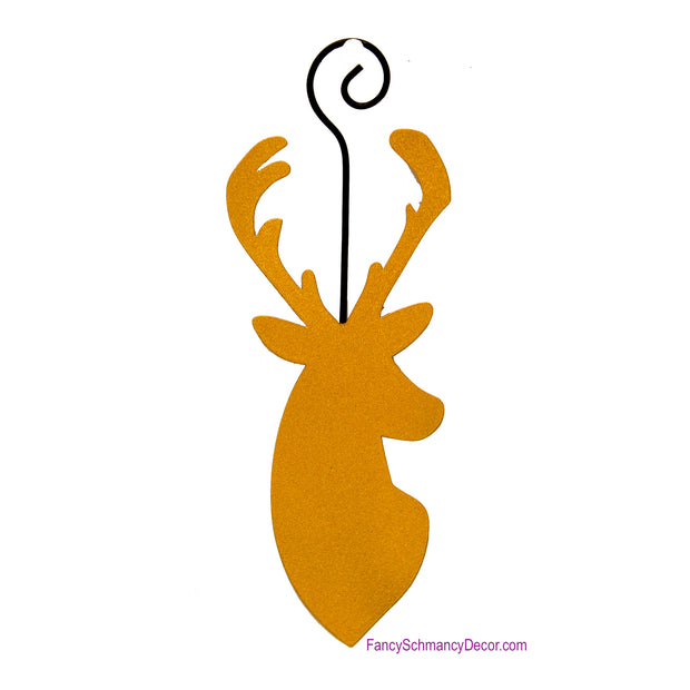 Gold Deer Silhouette Ornament - The Round Top Collection C17077