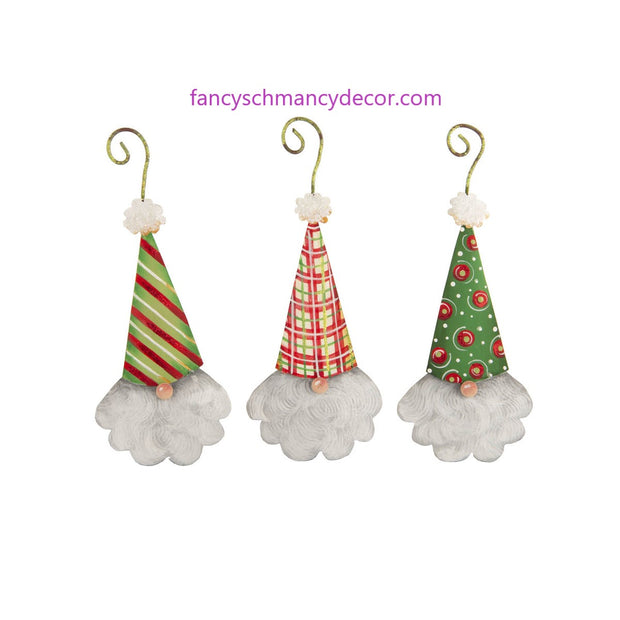 Holiday Gnome Ornaments Assorted Set of 3 by The Round Top Collection