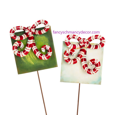 Candy Cane Gift Boxes Assorted Set of 2 by The Round Top Collection