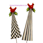 Elegant Red Bird Trees Assorted Set of 2 by The Round Top Collection