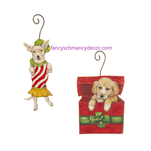 Merry Mutt Ornaments Assorted Set of 2 by The Round Top Collection