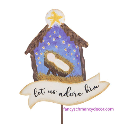 """Let Us Adore Him"" Nativity by The Round Top Collection"
