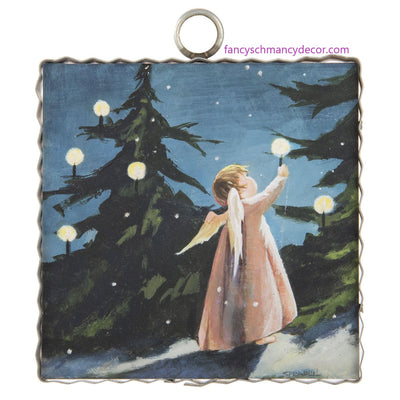 Mini Candlelight Angel Print by The Round Top Collection