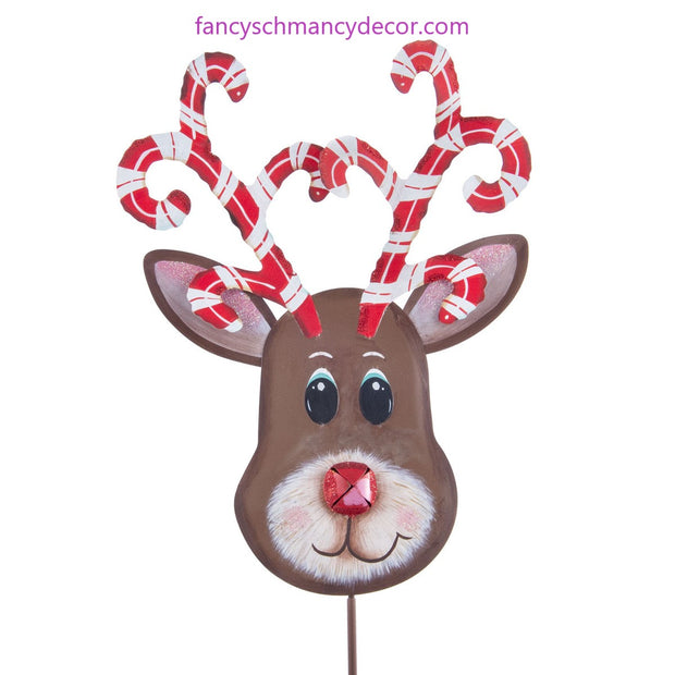 Candy Cane Reindeer Stake by The Round Top Collection
