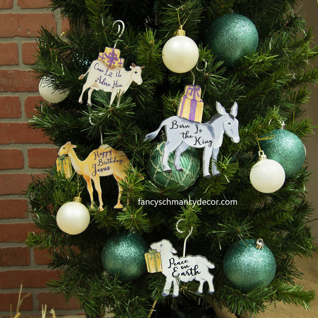 Birthday Gift for Jesus Ornaments by The Round Top Collection