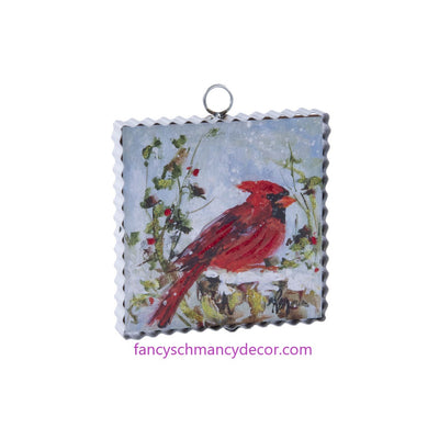 Mini Perched Cardinal Print by The Round Top Collection