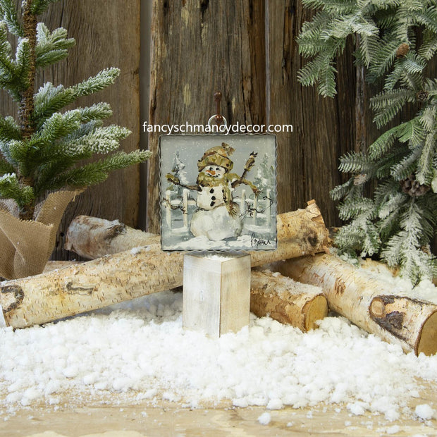 Mini Winter Friends Snowman & Cardinal Print by The Round Top Collection