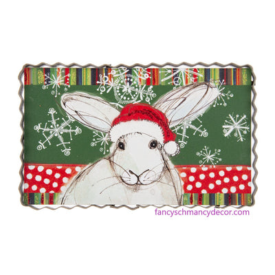 Holiday Snow Bunny Print by The Round Top Collection C20141
