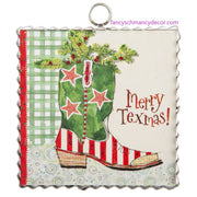"Mini ""Merry Texmas"" Boot Print by The Round Top Collection"