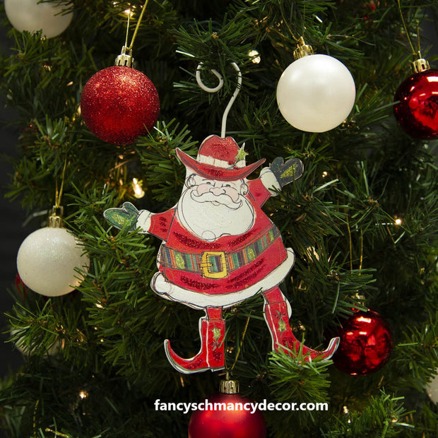 Southwest Christmas Santa Ornament by The Round Top Collection