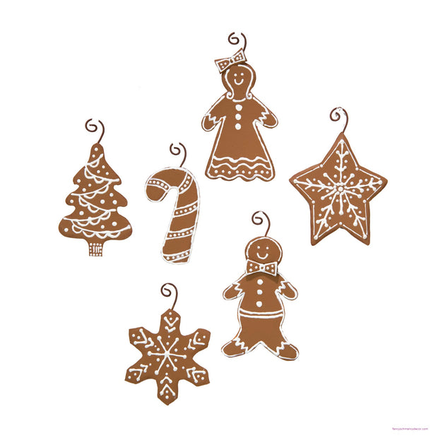 Gingerbread Ornaments Set of 6