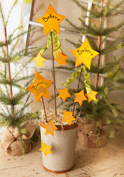C4010 - Believe Star Stake/Hanger by The Round Top Collection - FancySchmancyDecor