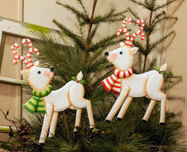 C8011 Candy Land Deer Assorted 2 - The Round Top Collection - FancySchmancyDecor