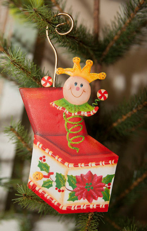 C8017 Candy Land Jack in the Box Ornament - The Round Top Collection - FancySchmancyDecor