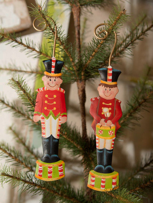 C8025 Candy Land Soldier Ornaments (Assorted Set of 2) - The Round Top Collection - FancySchmancyDecor