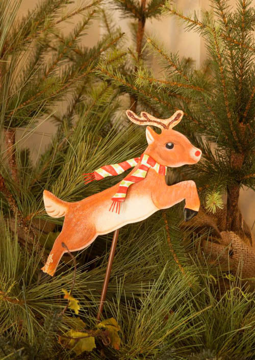 C8081 MD Anderson Dashing Deer Stake - The Round Top Collection - FancySchmancyDecor