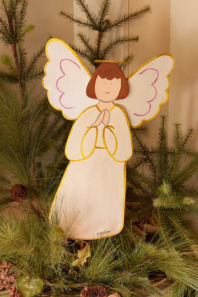 C8106 MD Anderson White Angel Medium by The Round Top Collection - FancySchmancyDecor