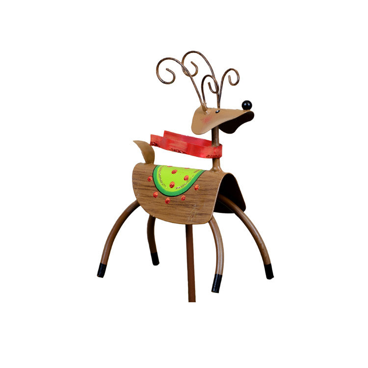 C9025 Red Scarf Reindeer The Round Top Collection - FancySchmancyDecor