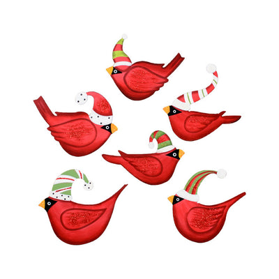 C9053 Ho Ho Bird in Hat Magnets- Asst. Set of 6 The Round Top Collection - FancySchmancyDecor
