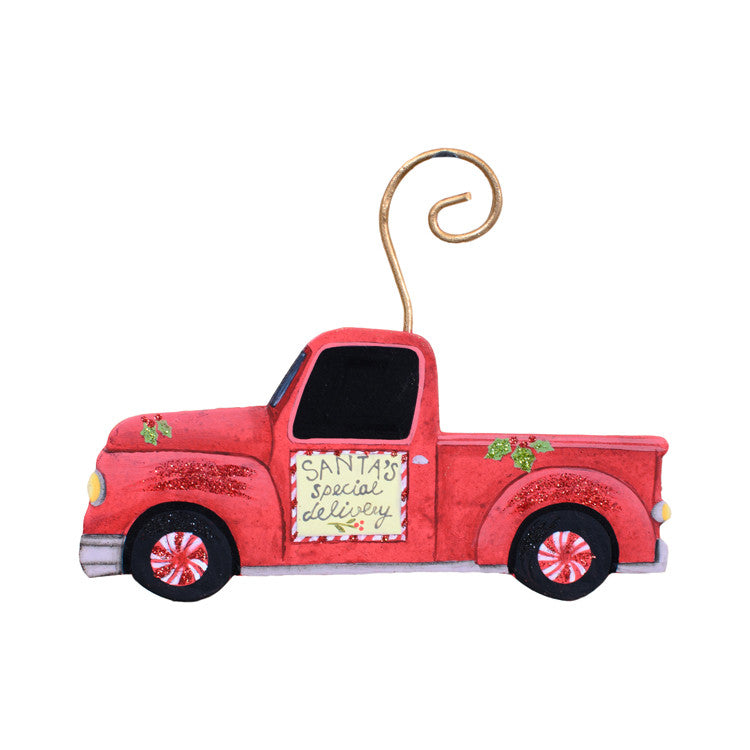 C9078 Cowboy Truck Ornament - The Round Top Collection - FancySchmancyDecor