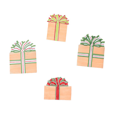 C9079 Burlap Packages Magnets- Asst. 4 by The Round Top Collection - FancySchmancyDecor