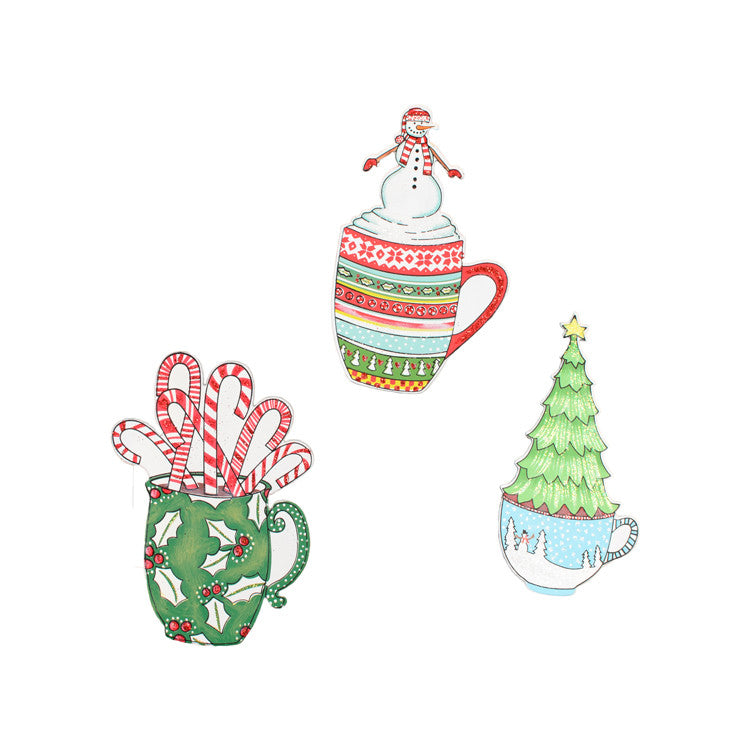 C9104 Retro Coffee Mug Magnets- Assorted Set of 3 - FancySchmancyDecor