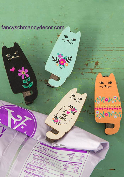 Cats Magnet Happy Clip by Natural Life