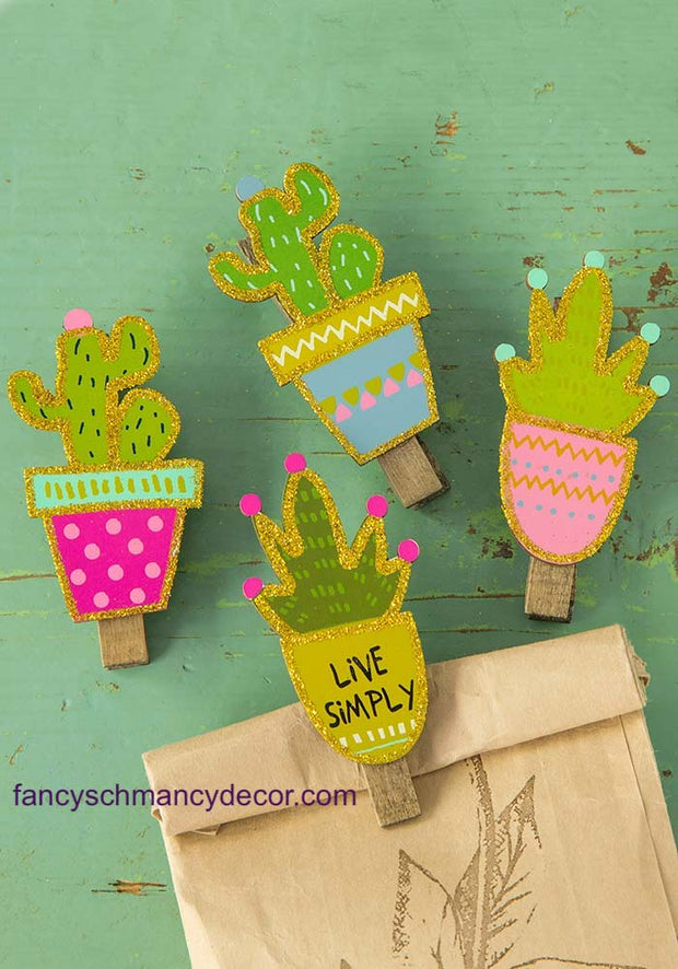 Succulent Magnet Happy Clips by Natural Life