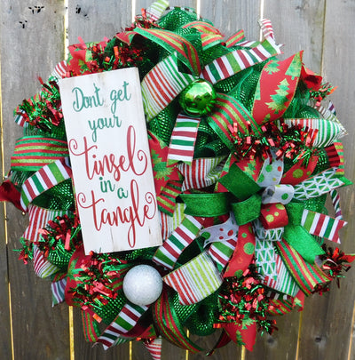Don't Get Your Tinsel in a Tangle Wreath