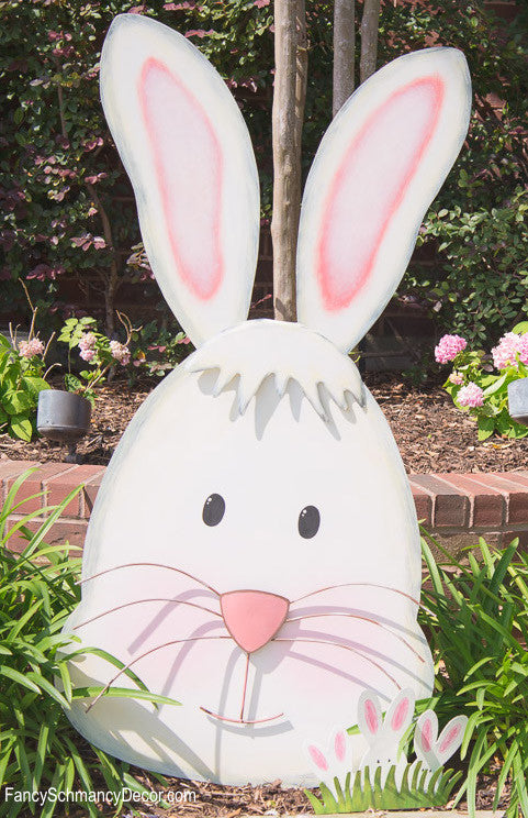 Elegant Floral Leaping Rabbit Metal The Round Top Collection