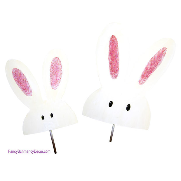 Peeking Bunnies Stake Assorted Set of 2 by The Round Top Collection E17015