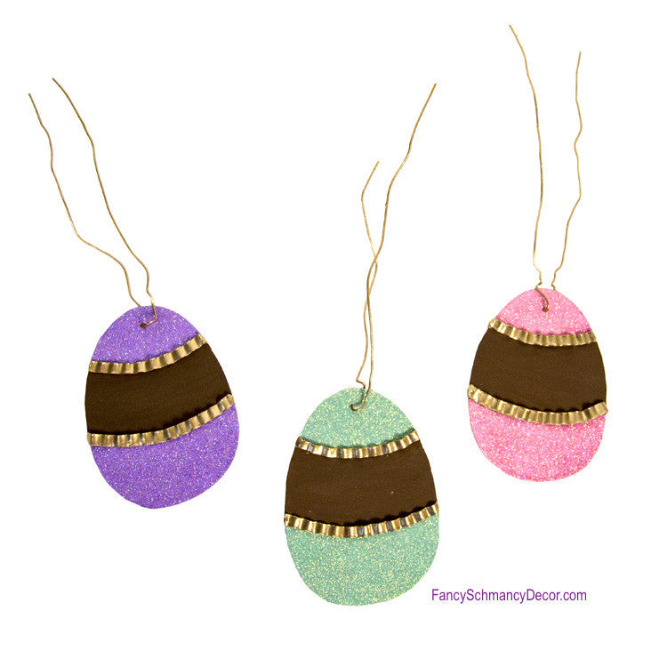 Chalk Paint Easter Basket Assorted Set of 3 Tags by The Round Top Collection E17017