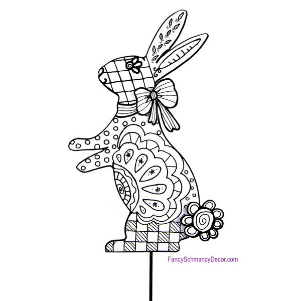 Color My Easter Rabbit Stake by The Round Top Collection E17030
