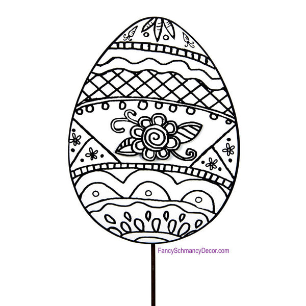 Color My Easter Egg Stake by The Round Top Collection E17032