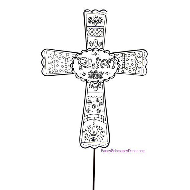 Color My Easter Cross Stake by The Round Top Collection E17033