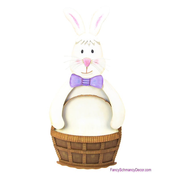 Rabbit Holding Basket Large by The Round Top Collection E18025
