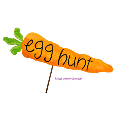 """Egg Hunt"" Carrot Stake  by The Round Top Collection E18036"