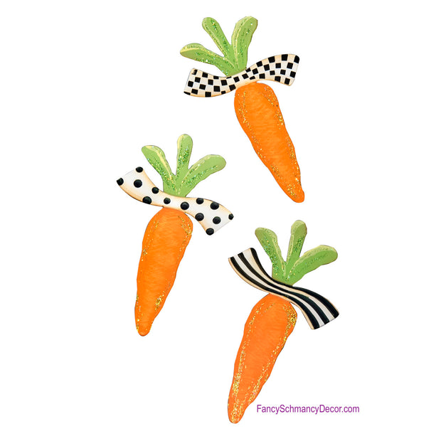 Elegant Carrot Magnets - Asst. 3 by The Round Top Collection E18041