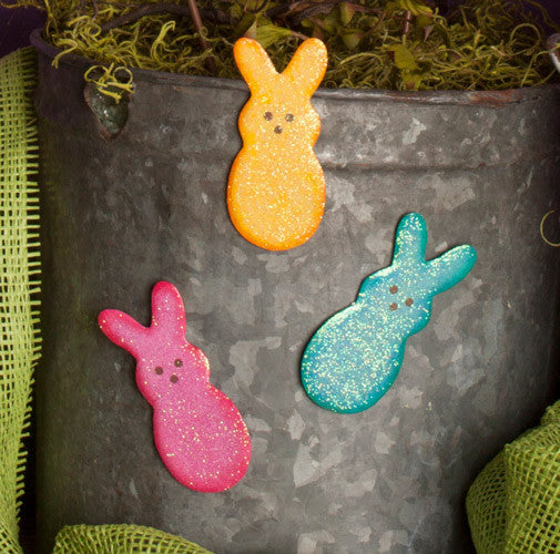 Marshmallow Bunny Magnet Assorted Set of 3 The Round Top Collection E7038 - FancySchmancyDecor