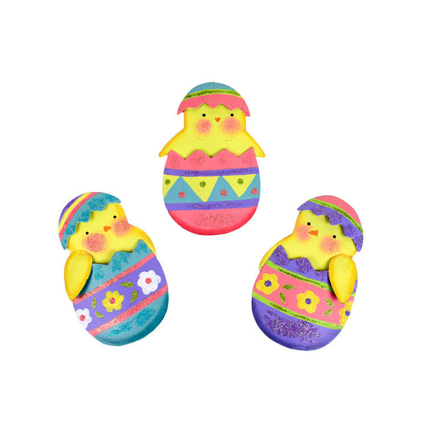 Classic Chick in Egg Magnet Assorted Set of 3 The Round Top Collection E9021 - FancySchmancyDecor